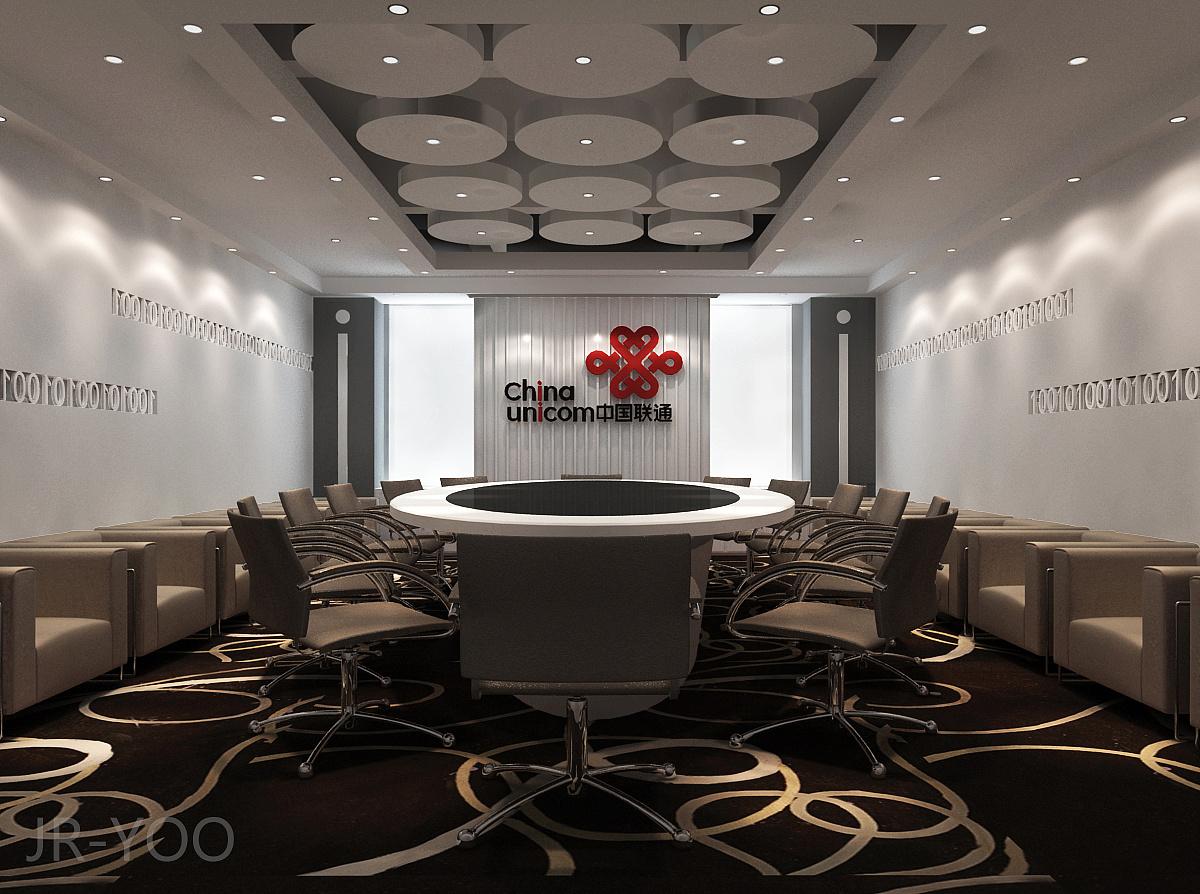 中国联通办公大楼室内设计方案图片