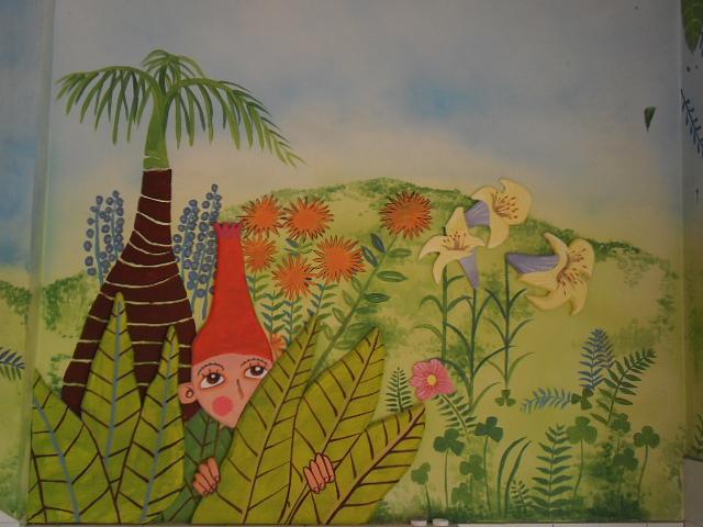 昆明市区某幼儿园手绘墙画