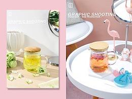 摄影-仙仙花茶杯/女生的休闲时光/玻璃杯