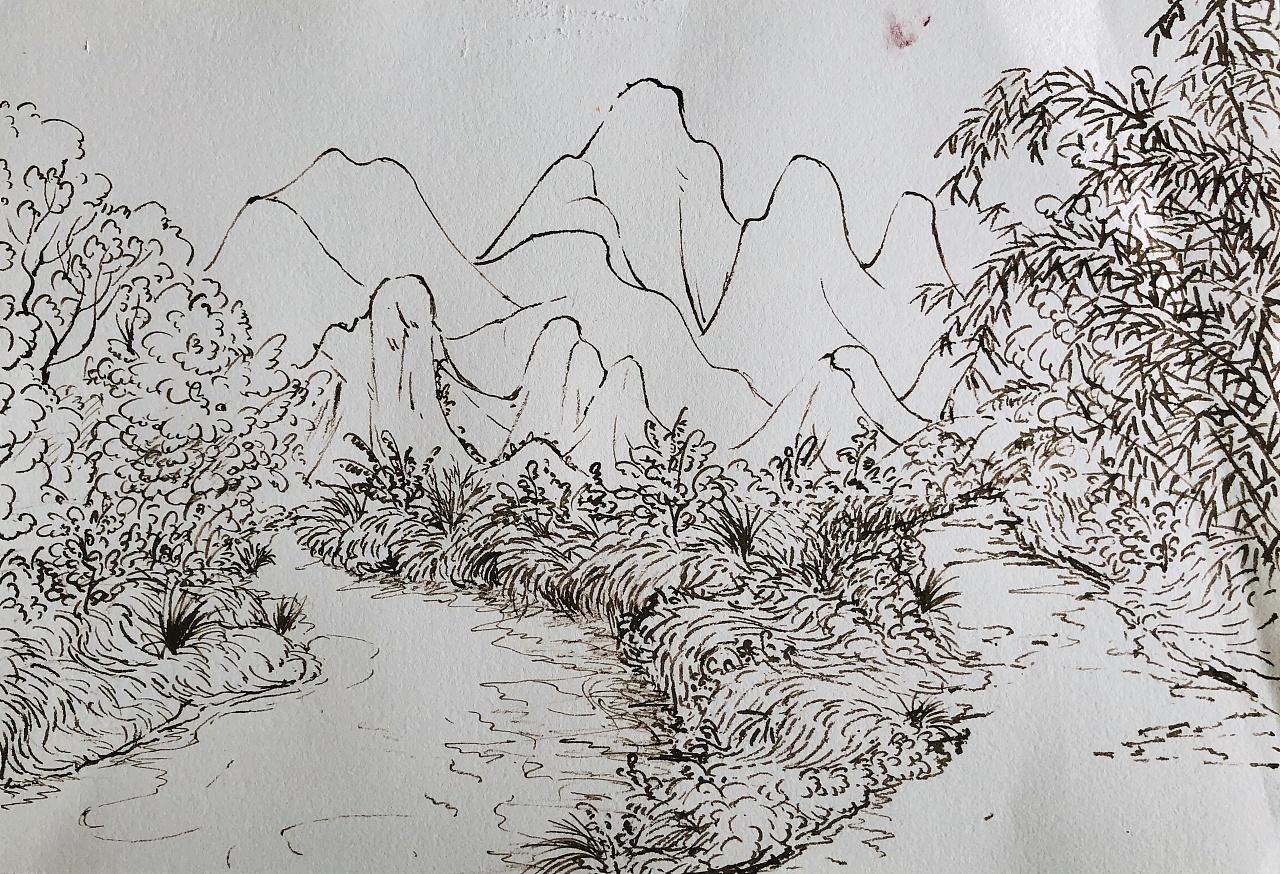 英德黄花镇古桥风景图片