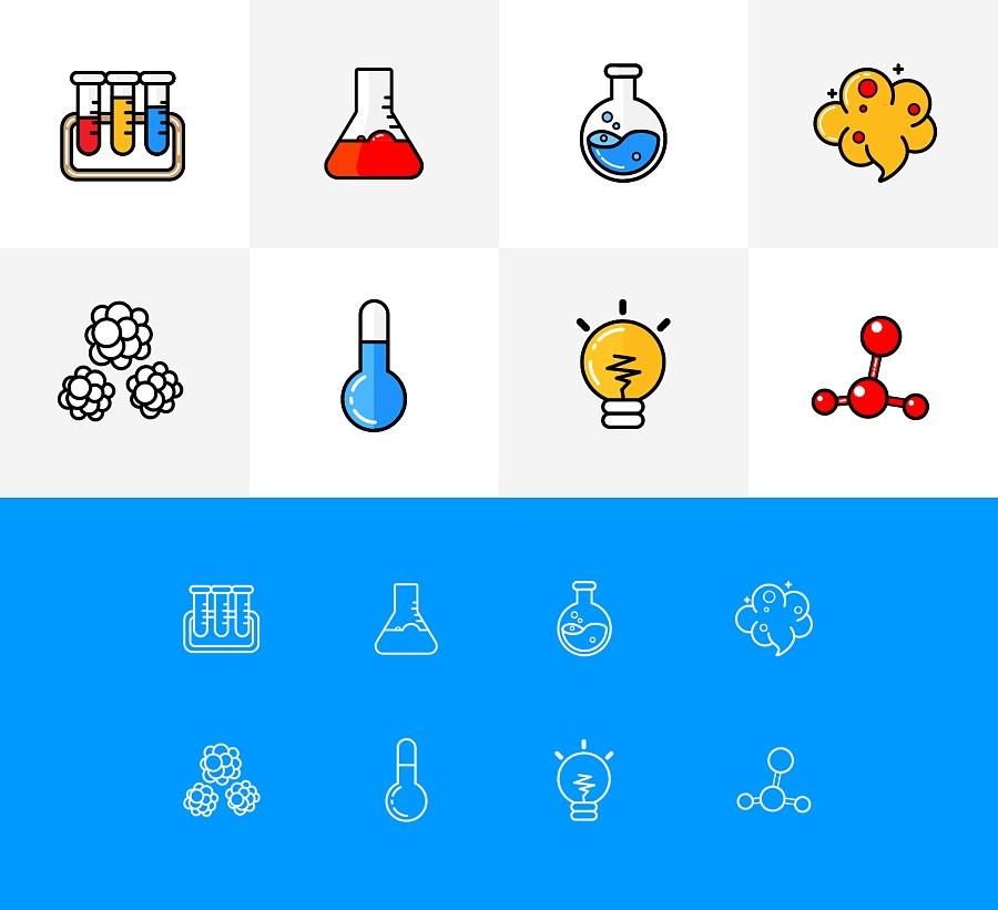 原创作品:化学小图标图片