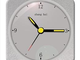 电灯泡和时钟的图案设计