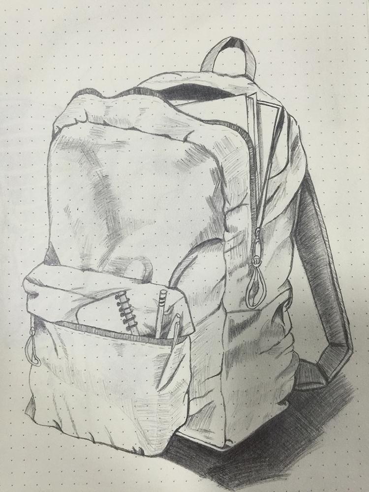 书包|素描|纯艺术|saadiya712 - 原创设计作品 - 站酷图片