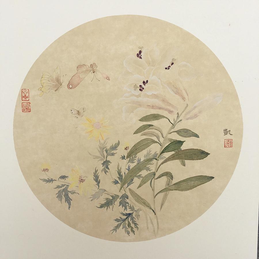 查看《花鸟小品》原图,原图尺寸:3024x3024
