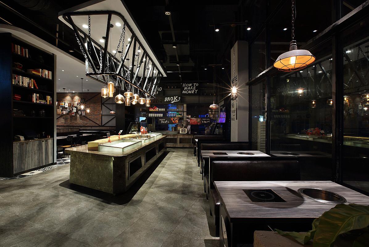 烧烤店 · 餐饮空间设计_赤烧100 深圳店
