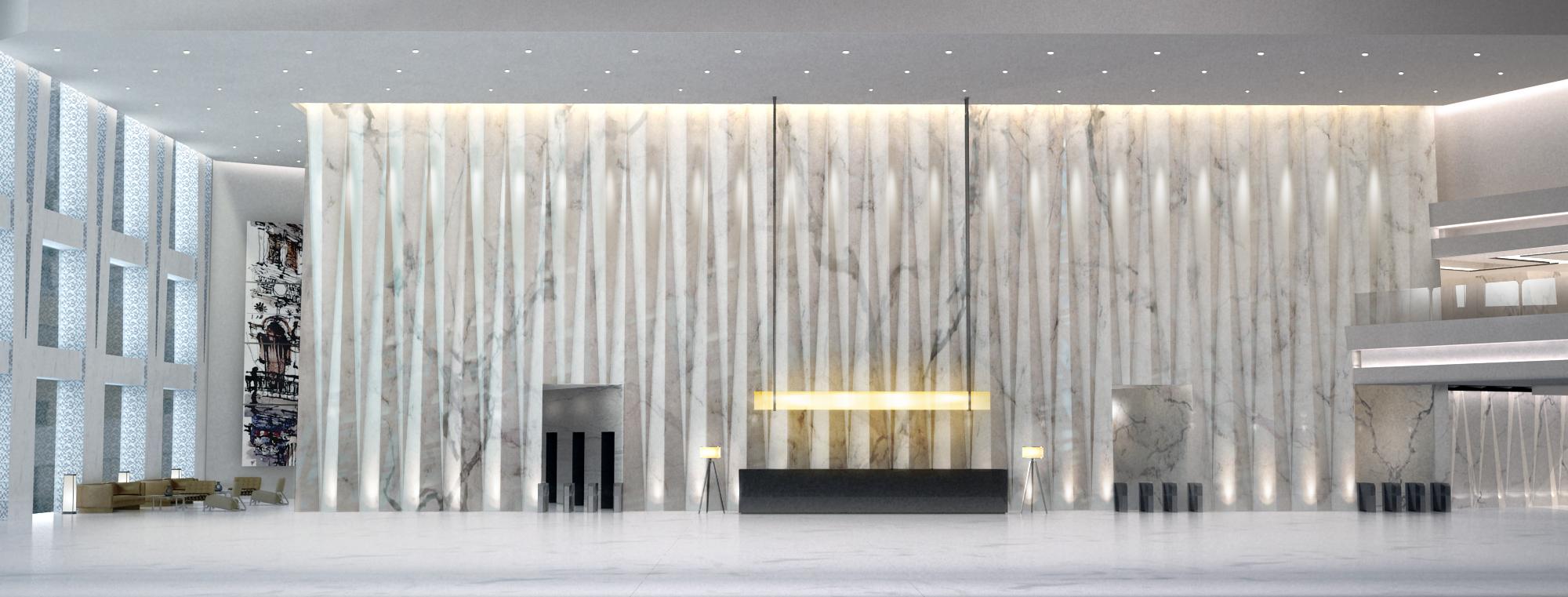 天津开发区 办公大堂|空间|建筑设计|daveli - 原创图片