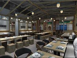 【美食广场设计】霍尔果斯金港皮草城环球美食港