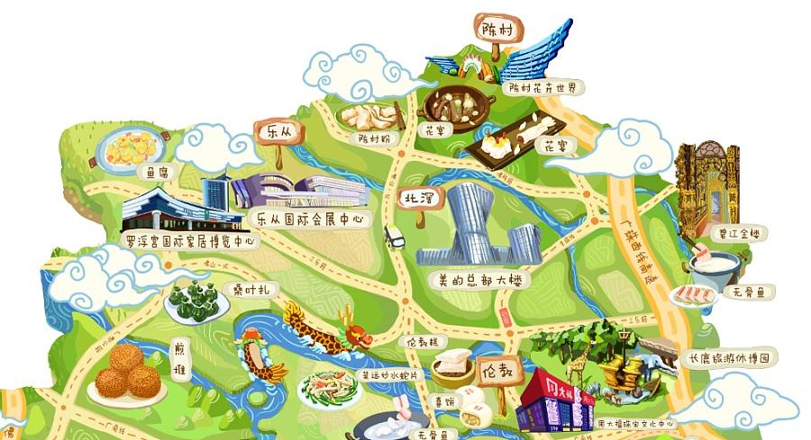 原创作品:顺德美食旅游地图