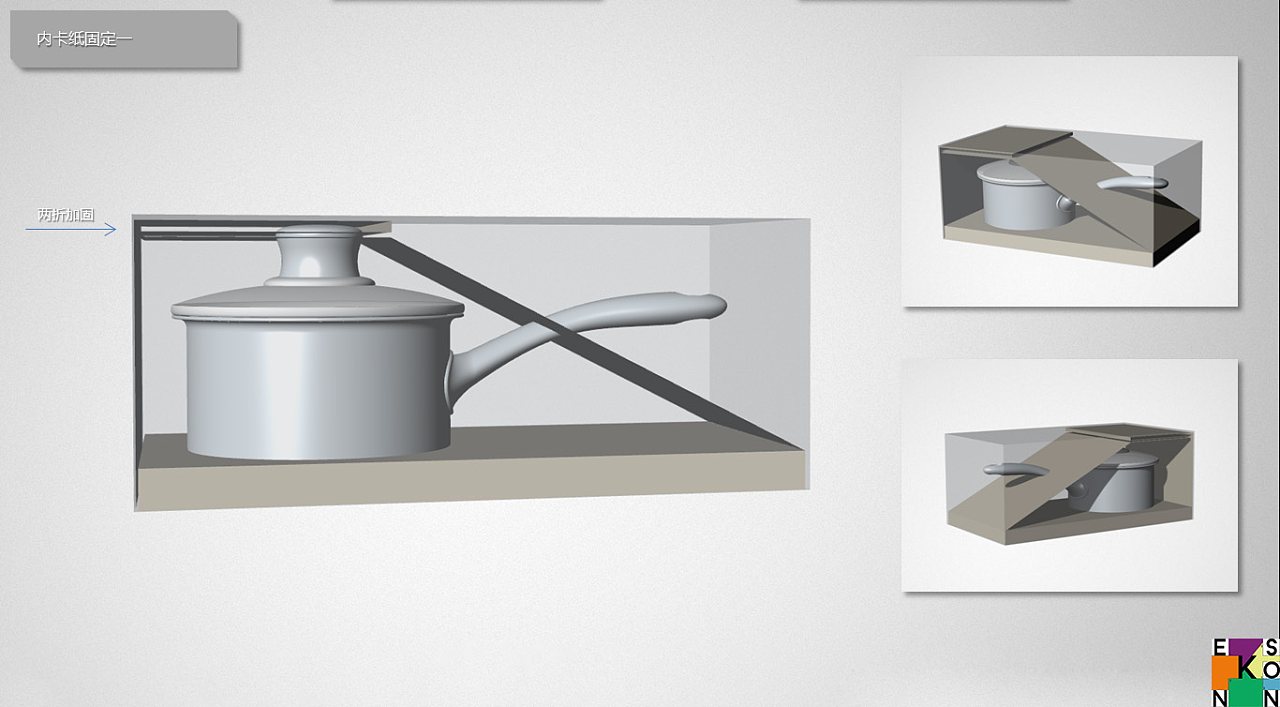 奶锅包装结构图