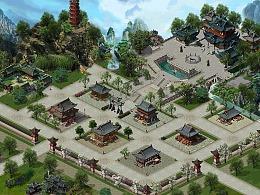 大型剑侠古装奇幻游戏场景设计