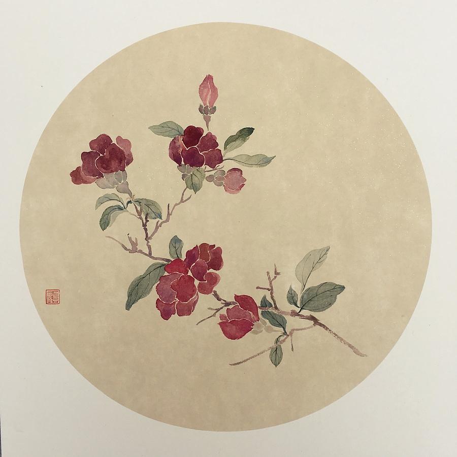 查看《花鸟小品》原图,原图尺寸:2976x2976