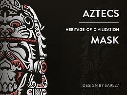 SA9527-阿兹特克文化 . 面具的故事