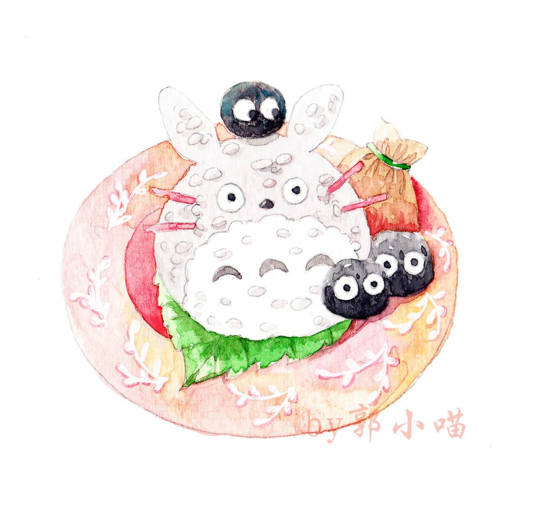 手绘水彩便当~|插画|商业插画|郭小喵miao - 原创作品