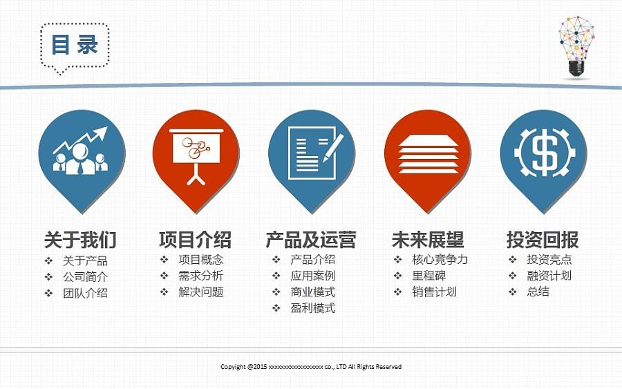 联网电商平面地产产品计划书 PPT/设计 标志 a项目商业的演示说明图片
