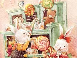 糖果兔子(儿插封面)
