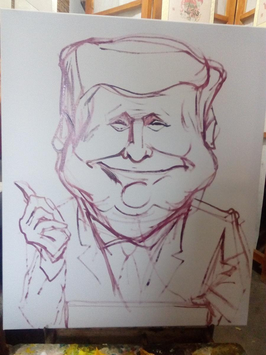 特朗普漫像|漫画漫画|动漫|郑路肖像工作室-原国光漫画手冢图片