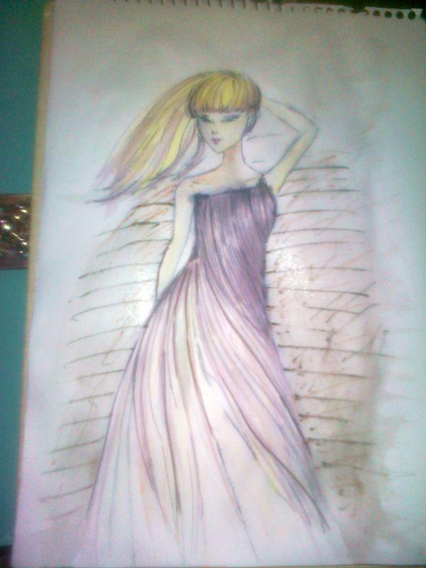 铅笔画裙子图片简单