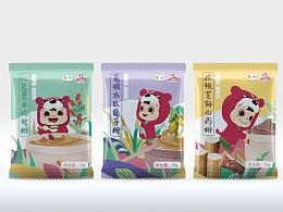 中粮集团旗下品牌福小满山药粉包装代餐粉包装设计