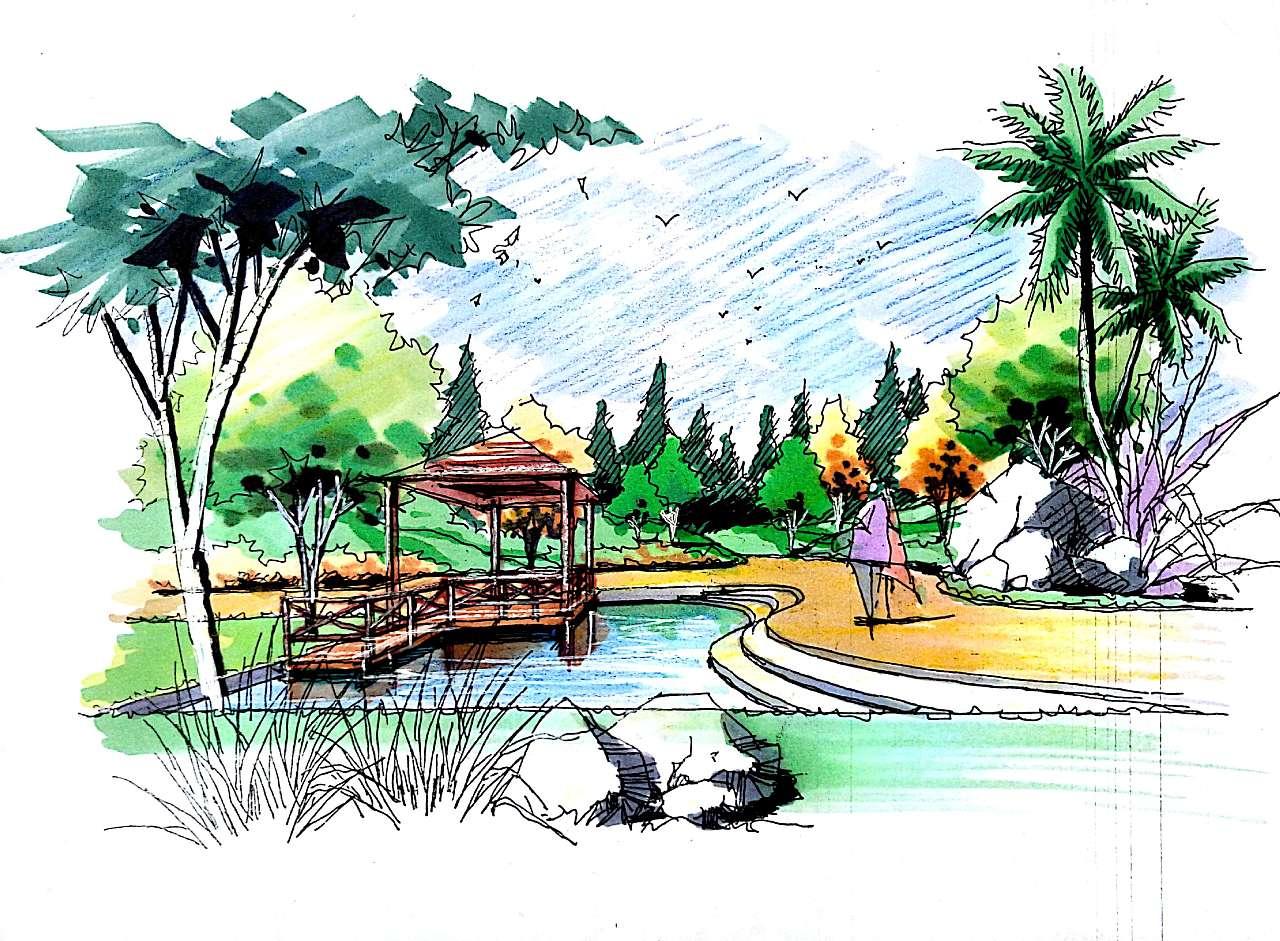 2016景观手绘合集|空间|景观设计|调色板22 - 原创
