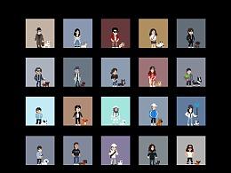 我的100个像素伙伴和他们的宠物