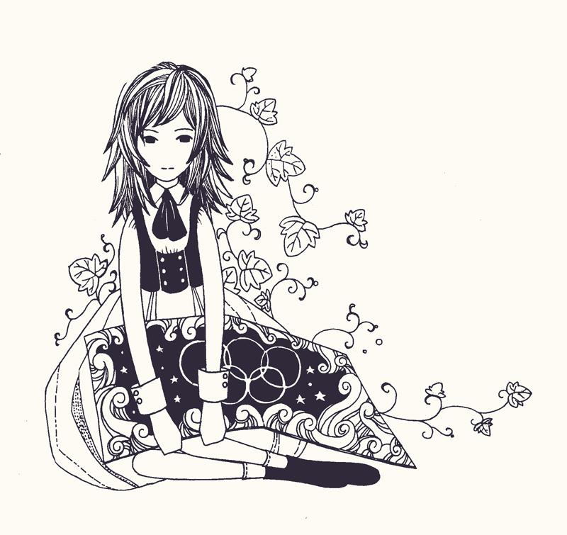 手绘简单动物图片 小插画黑白简单又漂亮手绘简单