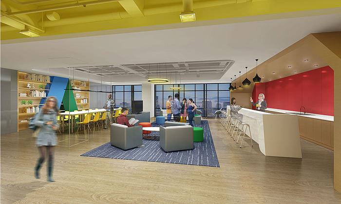 办公楼空间 展厅装修设计案例效果图