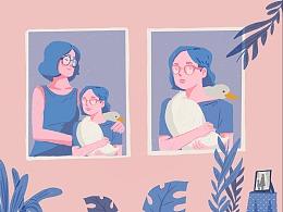 插画:母亲节肖像专题
