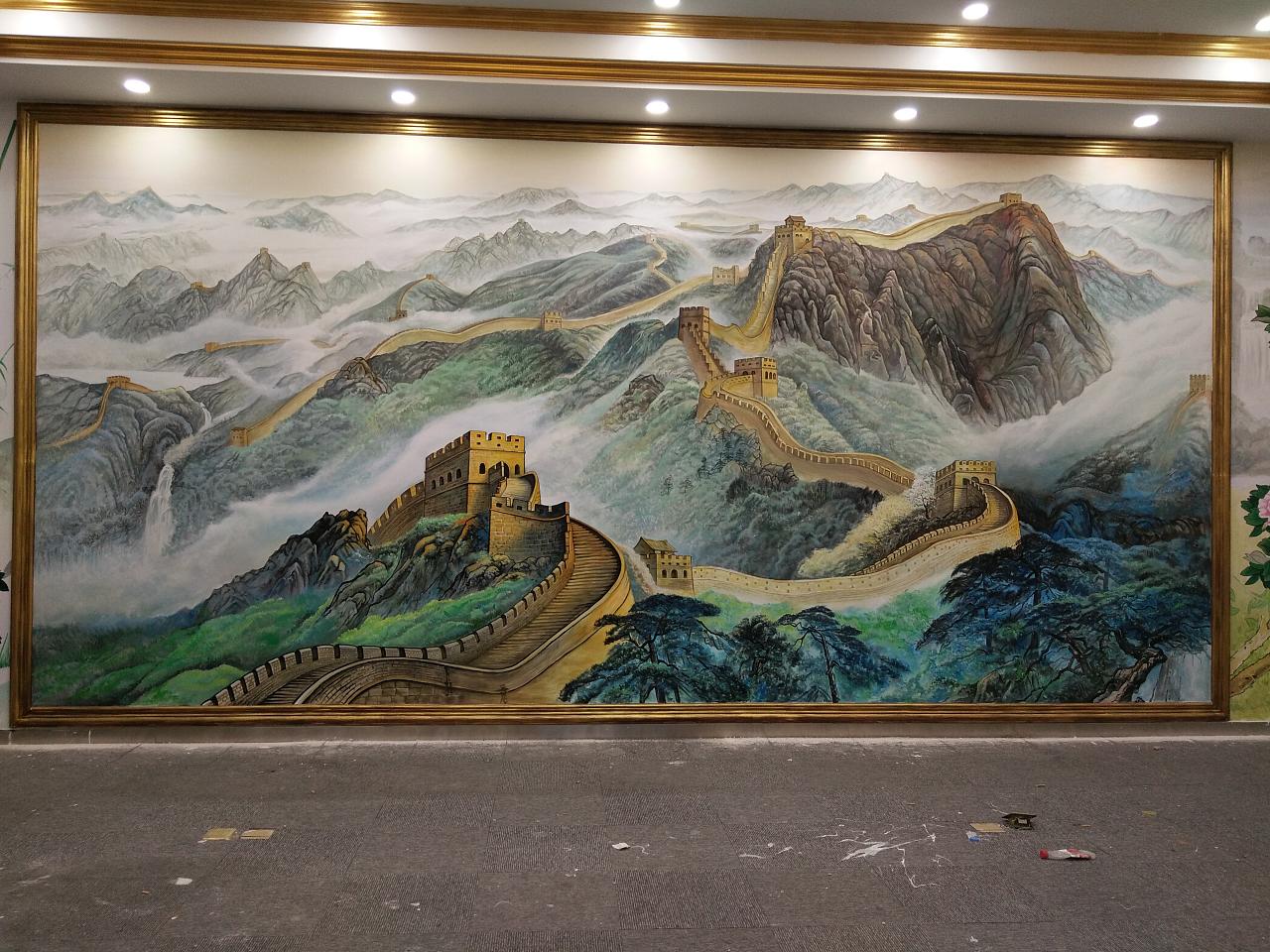 万里长城绘画过程图片