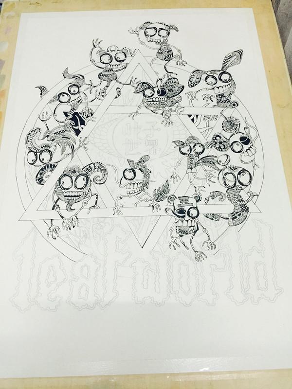 纯手绘黑白装饰画|绘画习作|插画|叶紫清清