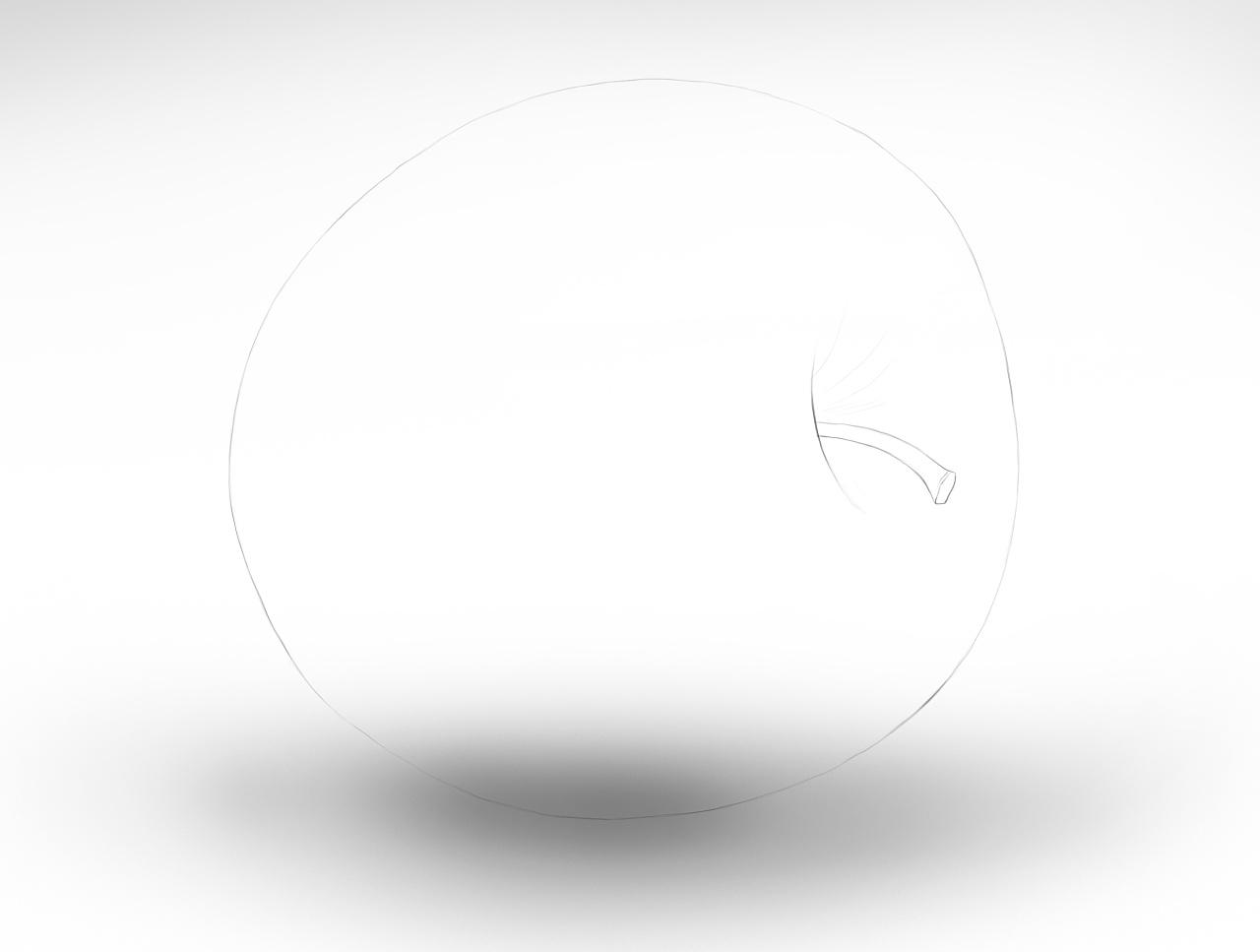 教你ps手绘:带水滴的绿苹果 超写实>