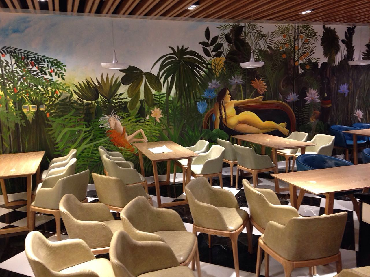 王府井西餐厅 咖啡厅|其他|墙绘/立体画|凡琢艺彩图片