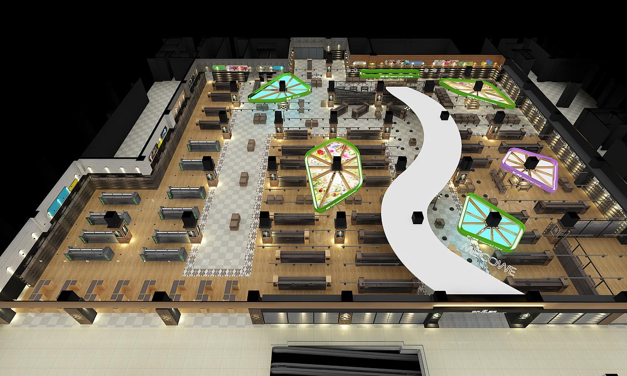 精品超市|空间|展示设计 |dshang3302 - 原创作品