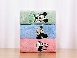 迪士尼儿童浴巾