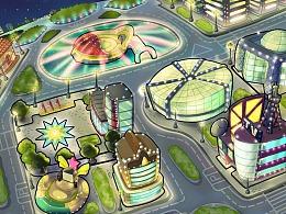 《明星对对碰》游戏人设+全地图设计一览