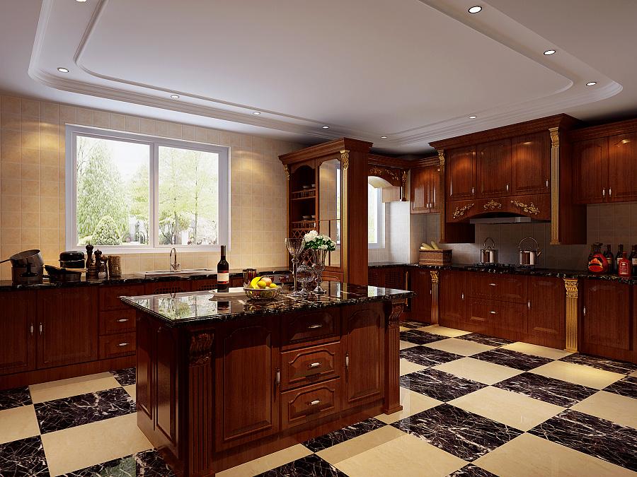 欧式厨房|室内设计|空间/建筑|幽灵结界