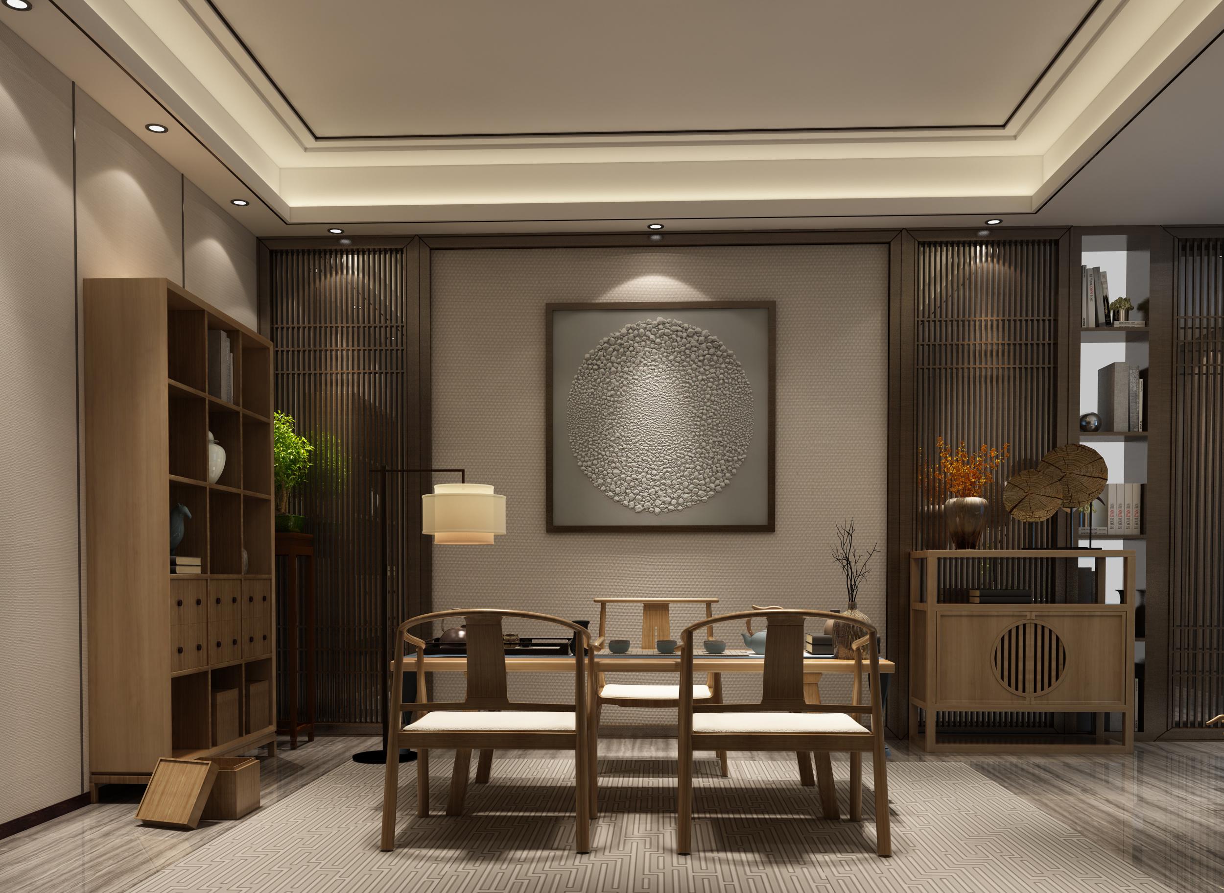 新中式茶室系列家具