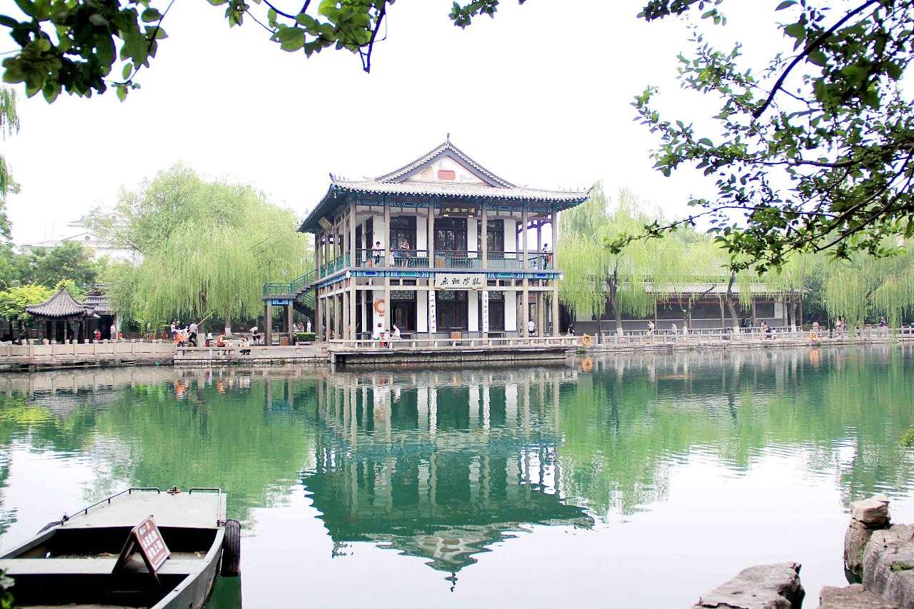 济南手绘风景图