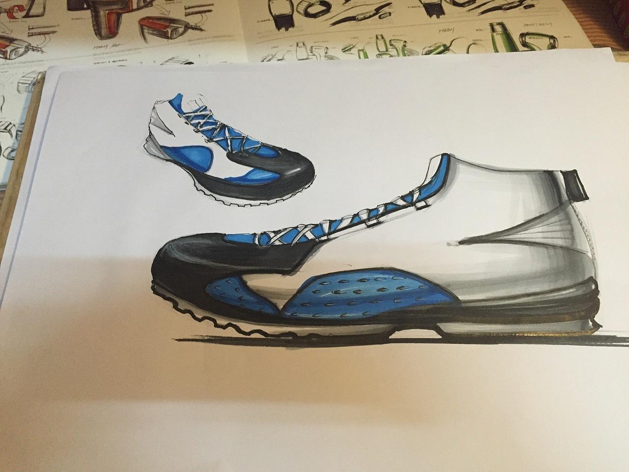汽车,运动鞋,生活用品的手绘