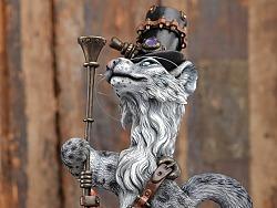 末那末匠|镰田光司《雪豹Steampunk Snow Leopard》