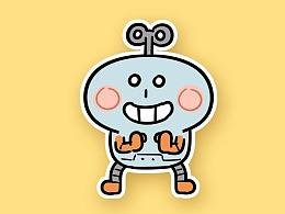 【微信表情】机器人牛轧糖2号