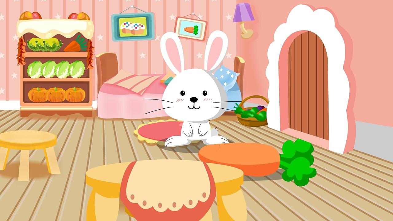 小动物卧室卡通