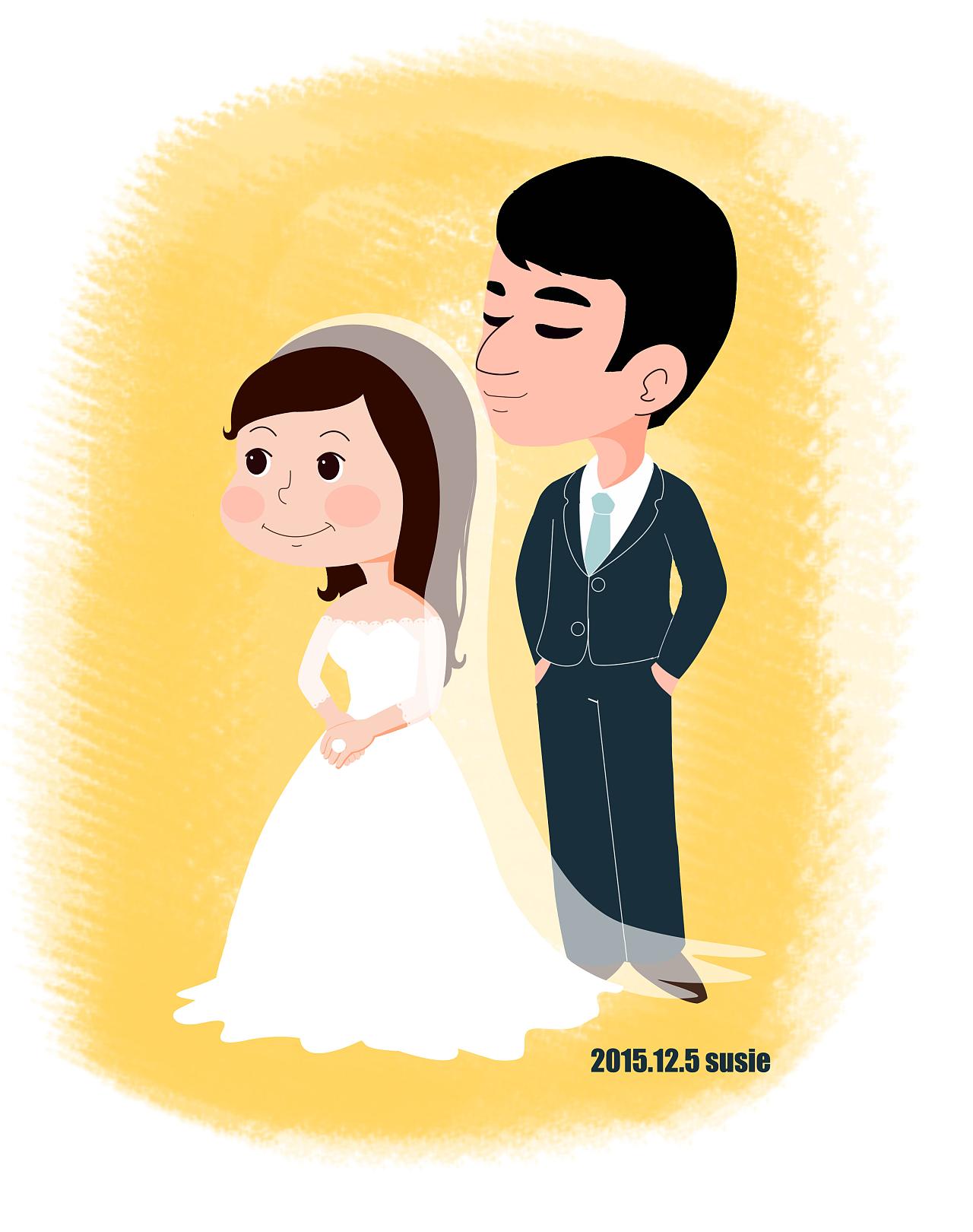 婚纱照卡通人物形象图片展示