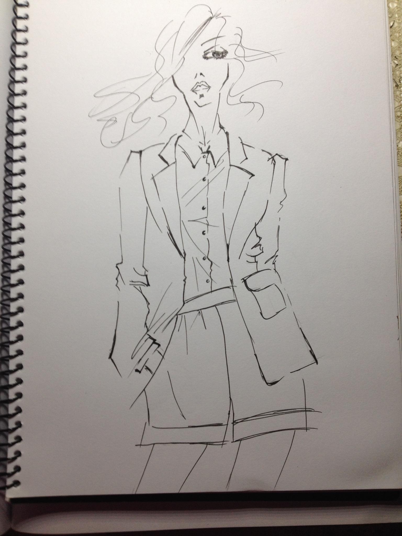时装画二-女装|纯艺术|彩铅|xhh1002883 - 原创作品