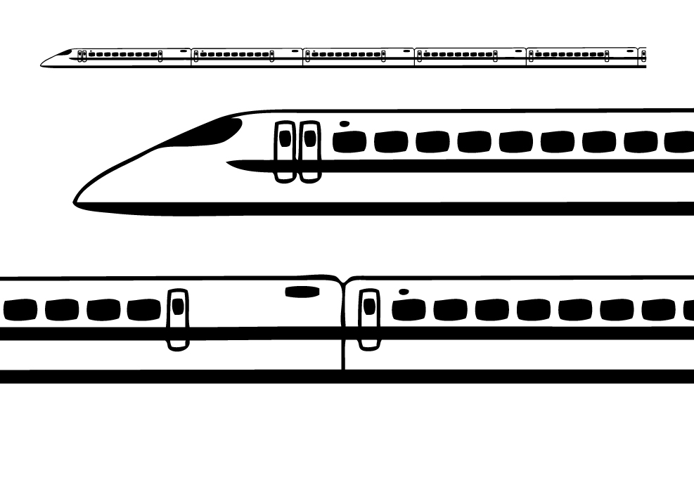 火车侧面卡通画
