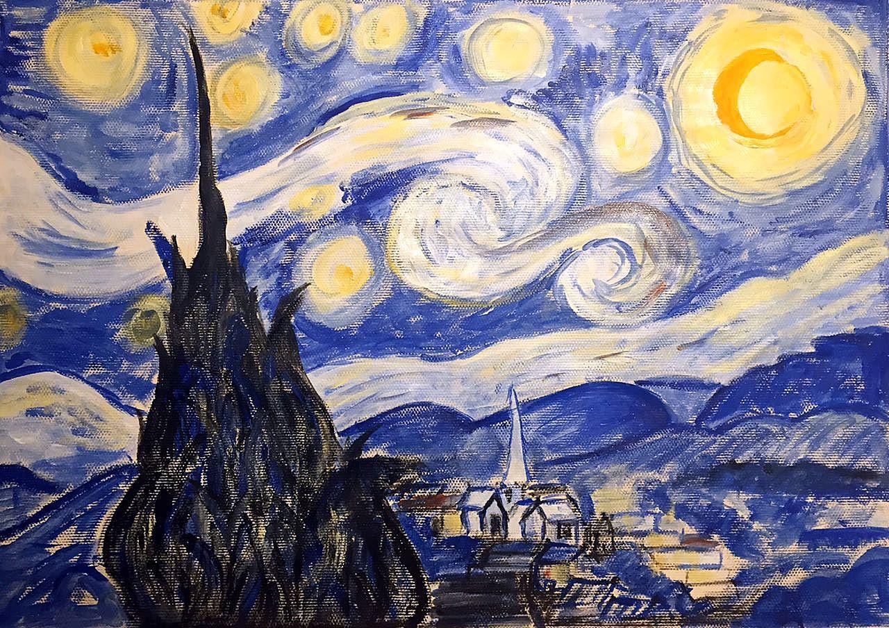 梵高的星空|纯艺术|油画|867575067 - 原创作品