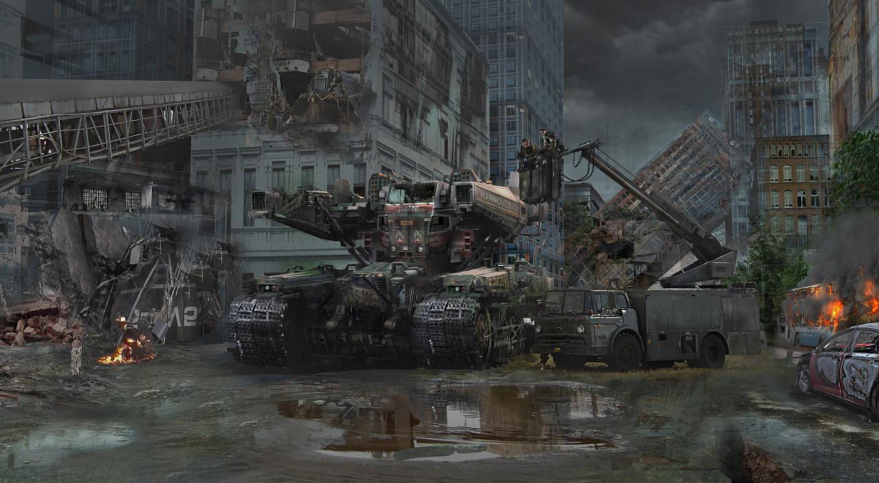 次时代项目 金属风暴 原创概念海报 有过程