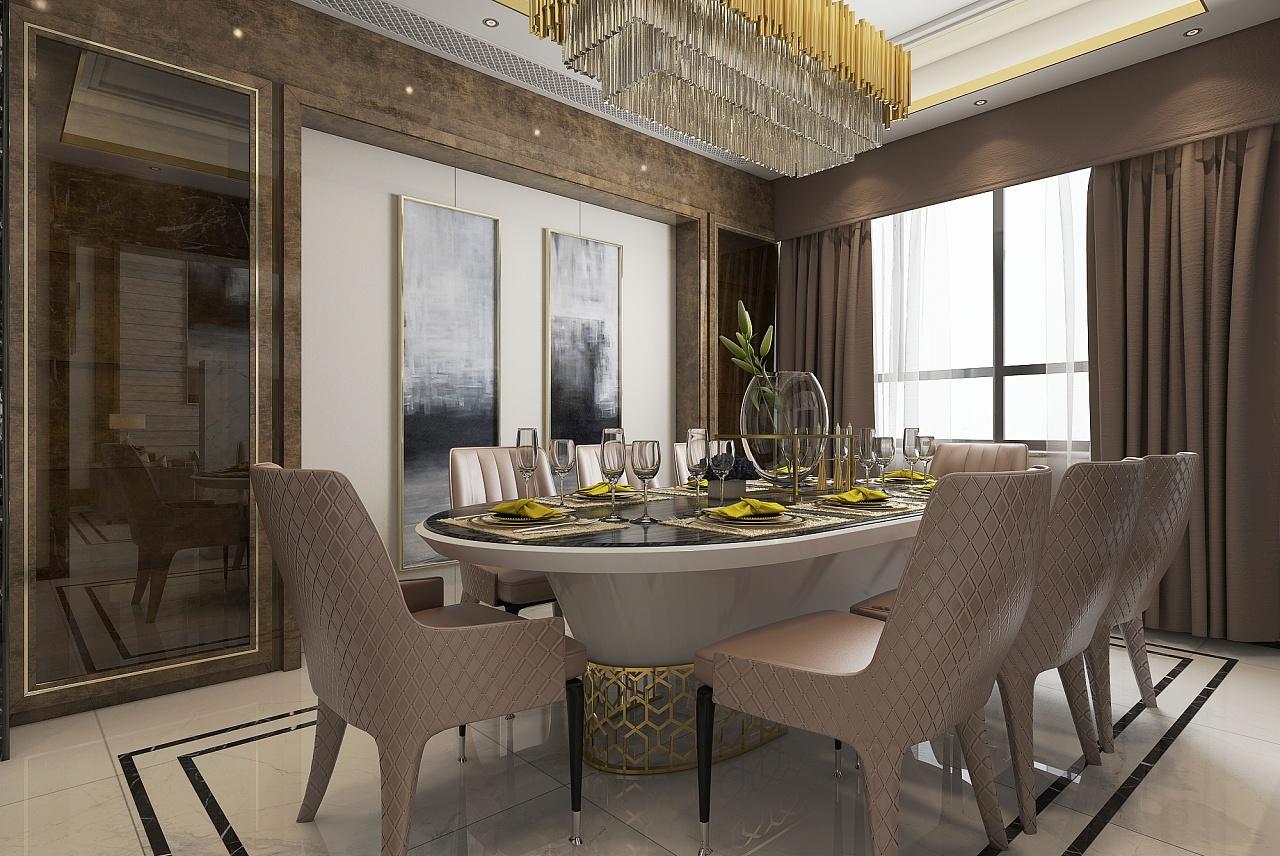 新作品别墅客餐厅空间表现|空间|室内设计|青沐沄杉