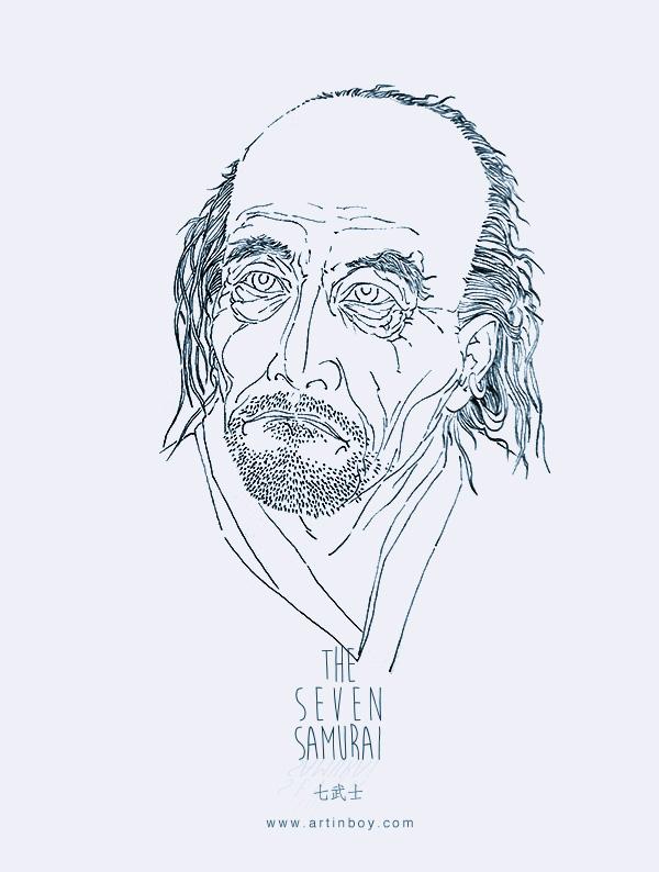 七武士系列手绘插画(一)