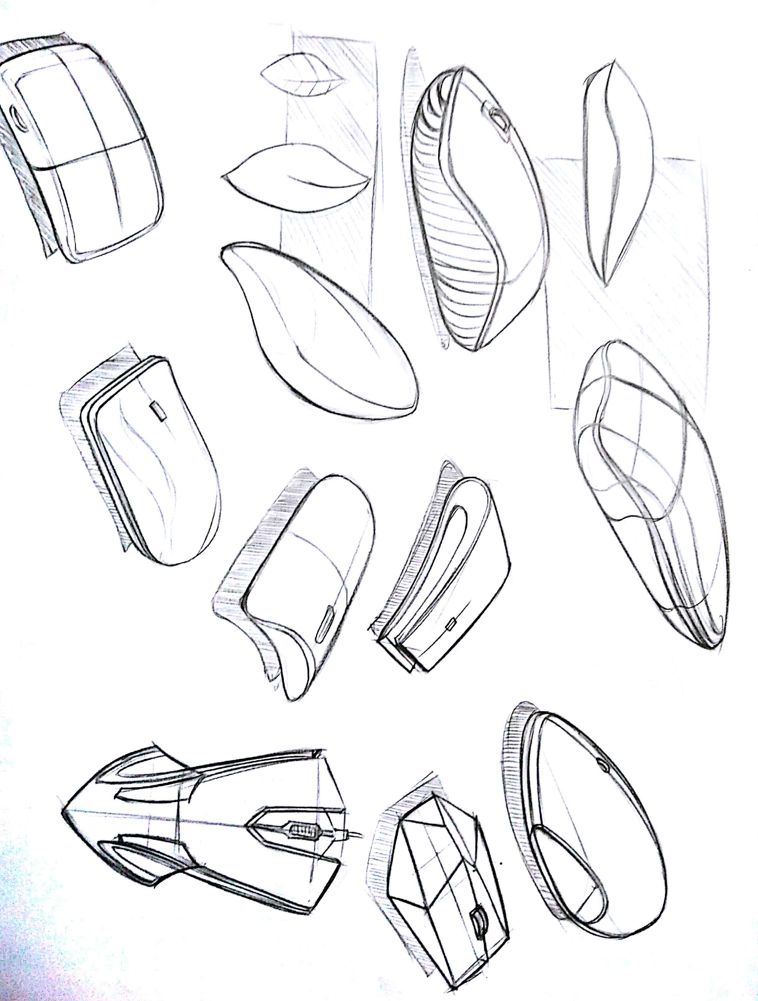 鼠标产品手绘效果图 图片合集