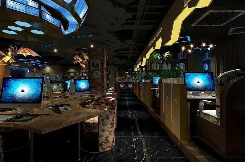 《时光蓝色网咖v时光》宜宾网咖装修设计卧室室内设计摆放物品图片